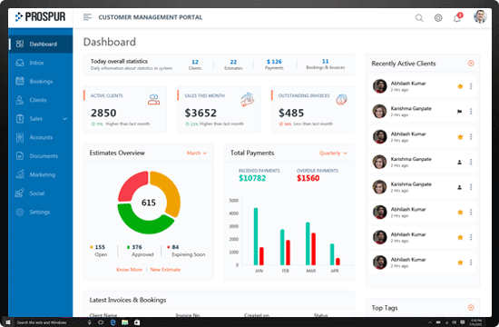 Dashboard screenshot image